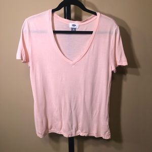 Old Navy Tops - 💥 Super Soft light pink v neck tee
